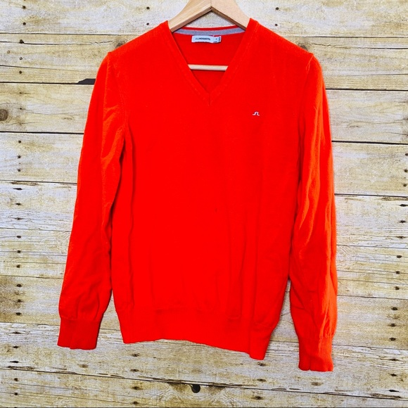 J. Lindeberg Other - J. Lindeberg V Neck Sweater Wool Orange Medium